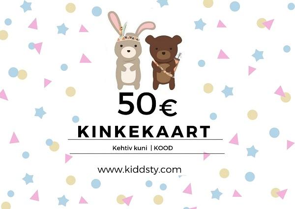 Kiddsty kinkekaart 50€