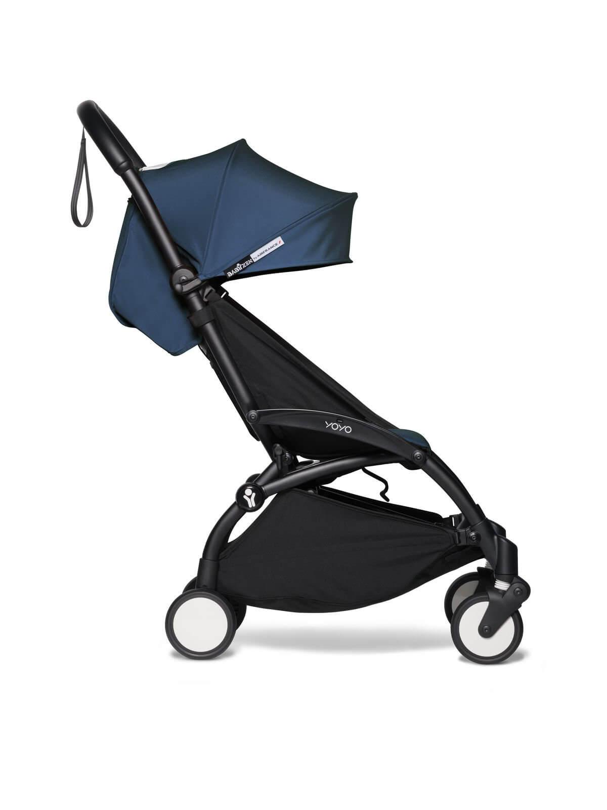 Babyzen-YOYO2-6-Frame-Black-Color-Pack-Air-France-Blue