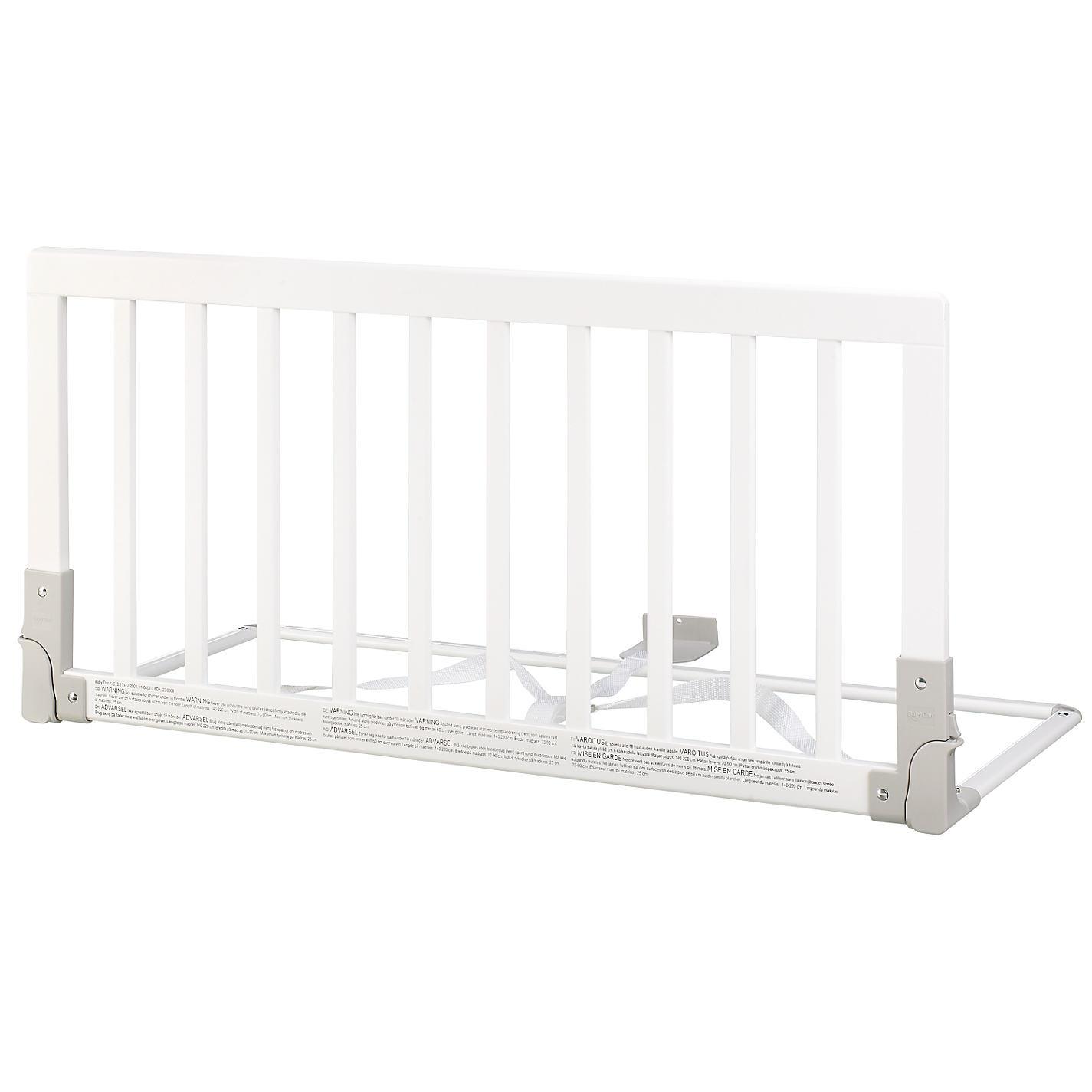 BabyDan puidust voodipiire valge
