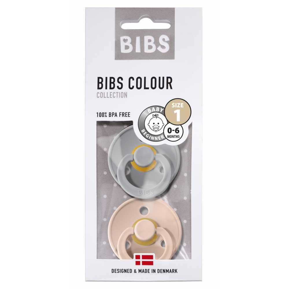 Bibs lutt 2-pakk Cloud/Blush, suurus 1