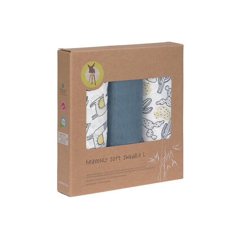Lassig-bambus-muslinlina-Glama-Lama-blue