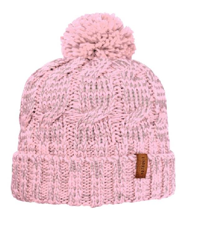 Lindberg helkurefektiga müts Night Light pink