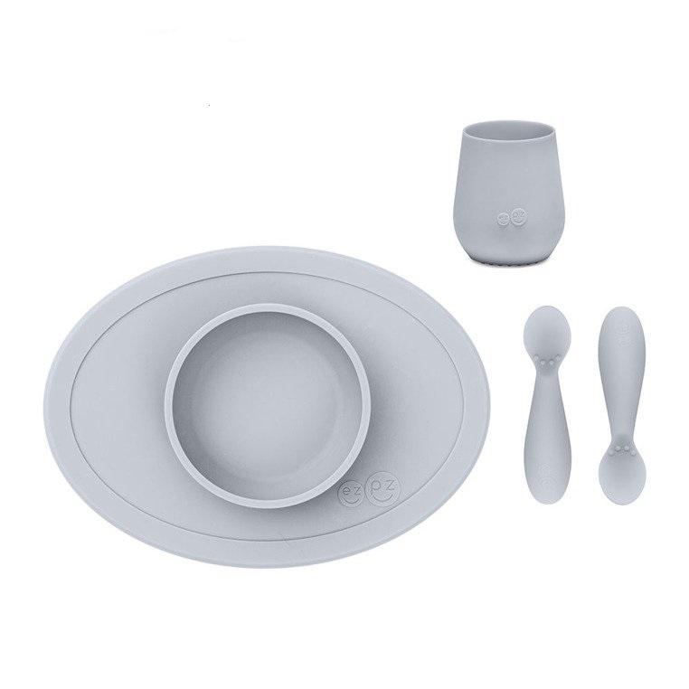 ezpz-sööginõude-komplekt-first-food-helehall