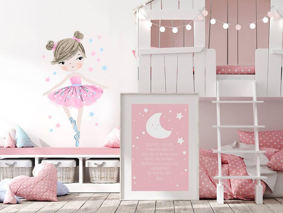 Seinakleebis balleriin roosa