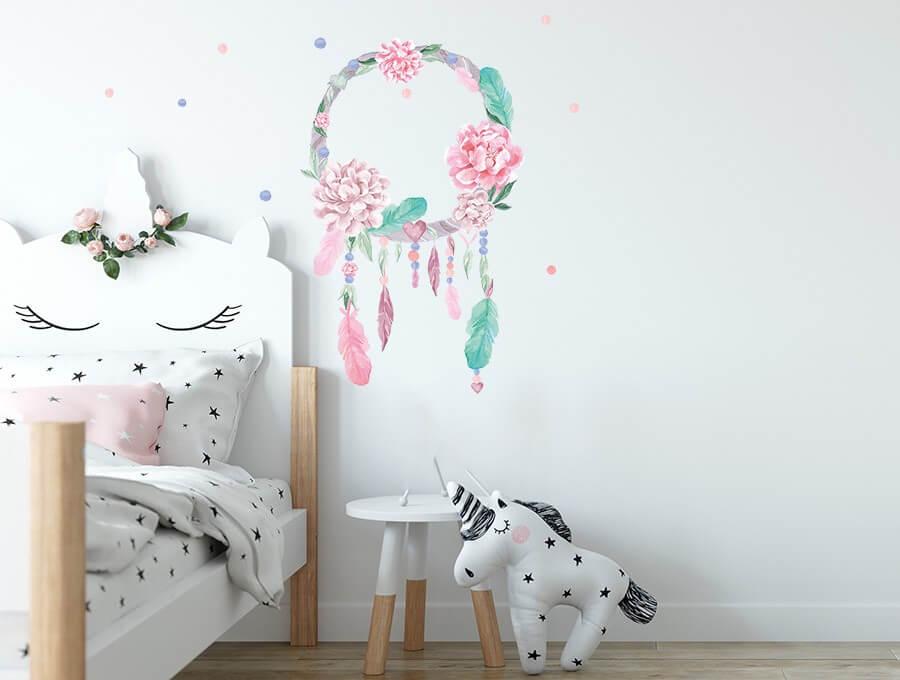 Seinakleebis unenägude püüdja roosa