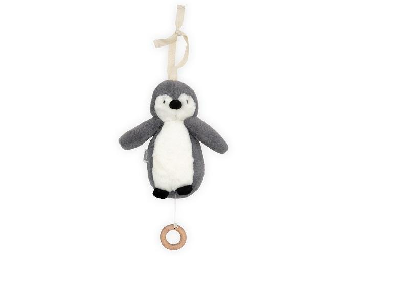 Jollein muusikaga rippuv pingviin, storm grey