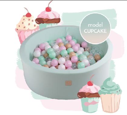 MeowBaby pallimeri Cupcake Set 250 palli