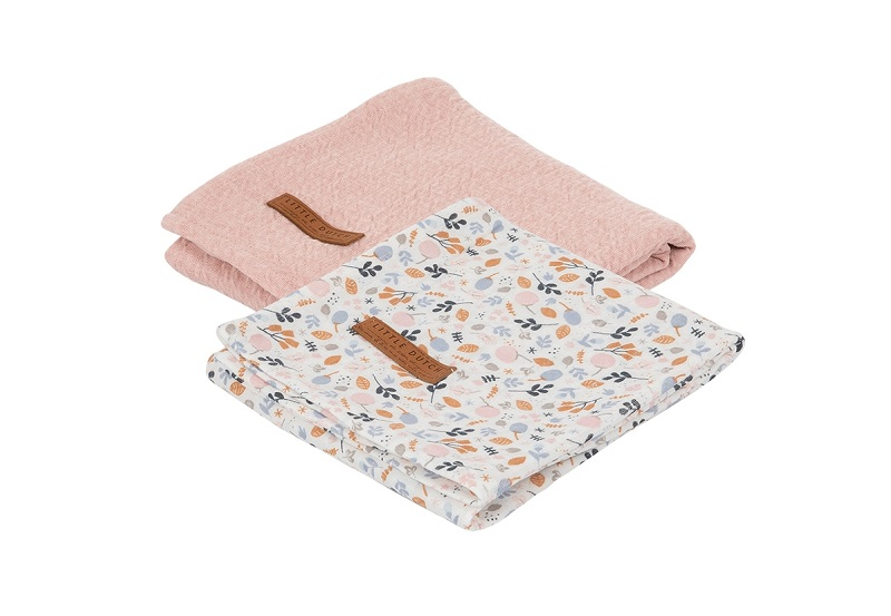 Little Dutch tekikeste komplekt 70 x 70 Pure Pink & Spring Flowers