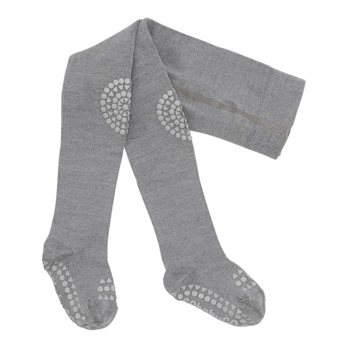GoBabyGo libisemiskindlad stopperitega villased sukkpüksid Grey Melange